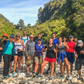 Group at Paparoa National Park West Coast New Zealand