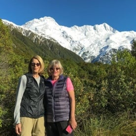 Ladies at Aoraki Mount Cook National Park, Canterbury New Zealand