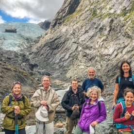 Group at Fox Glacier, West Coast New Zealand