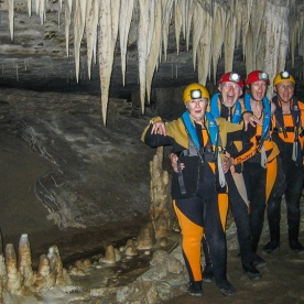 Group at Nile River Caves, West Coast New Zealand
