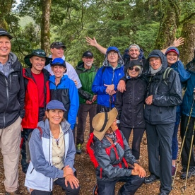 Group at Routeburn track, Fiordland New Zealand