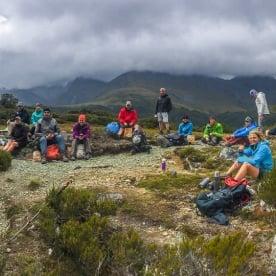 Group at Key Summit Lookout Trail, Routeburn Track, Fiordland National Park Southland New Zealand