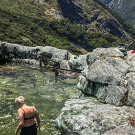 Swim at Routeburn Track, Otago New Zealand