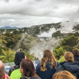 Pohutu Geyser at Rotorua, Bay of Plenty New Zealand