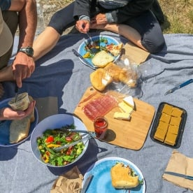 Picnic at Huka Falls, Waikato New Zealand