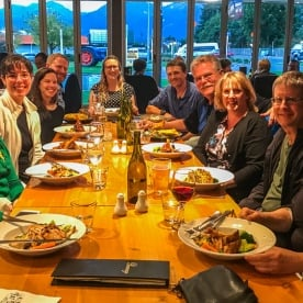 Dinner at Te Anau, Fiordland National Park Southland New Zealand