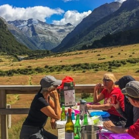 Lunch at Mount Aspiring National Park, West Coast New Zealand