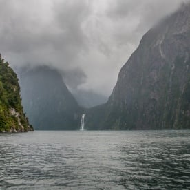 Stirling Falls at Milford Sound, Fiordland National Park Southland New Zealand
