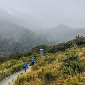 Walking the Key Summit Trail, Routeburn Track, Fiordland National Park Southland New Zealand