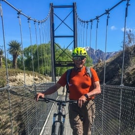 Biking the Southern Discovery Bridge, Otago New Zealand