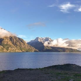 Picture stop at Devils Staircase, Lake Wakatipu Otago New Zealand