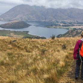 Hiking around Lake Wanaka, Otago New Zealand