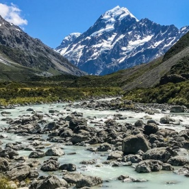 Aoraki Mt Cook National Park, Canterbury New Zealand