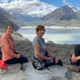 Group at Hooker Lake, Canterbury New Zealand