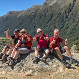 At top of Routeburn Track Valley, Fiordland National Park Southland New Zealand