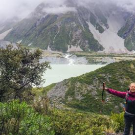 Hiking the Kea Point Track, Aoraki Mount Cook National Park, Canterbury New Zealand