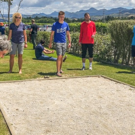 Playing boules at the Wairau river, Marlborough New Zealand