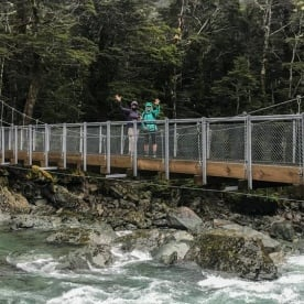 Routeburn Track River Bridge New Zealand