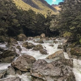 Routeburn Track River, Otago New Zealand