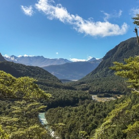 Routeburn track valley, otago new zealand