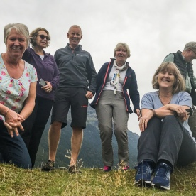 Group at Eglinton Valley, Fiordland National Park Southland New Zealand