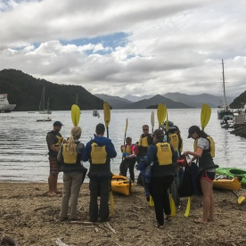 About to Kayak at Picton, Marlborough Sounds, New Zealand
