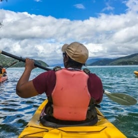 Kayaking at Queen Charlotte sound