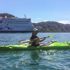 Kayaking at Marlborough Sounds, New Zealand