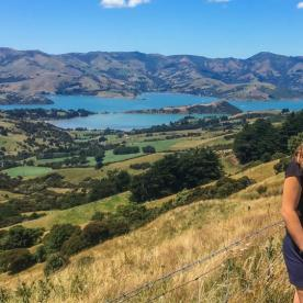 Mum and Daughter at Akaroa, Canterbury New Zealand