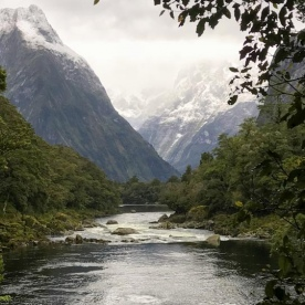 Arthur River at Milford Track, Fiordland National Park Southland New Zealand