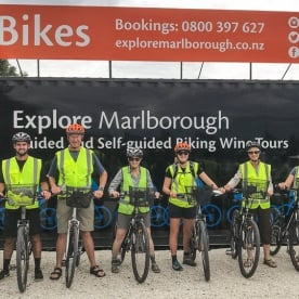 Bike Tour at Blenheim, Marlborough New Zealand