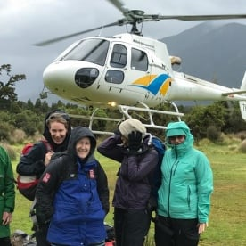Helicopter Tour at Hollyford Valley, Fiordland National Park Southland New Zealand