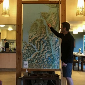 Fiordland map at Martins Bay Lodge, Fiordland National Park New Zealand