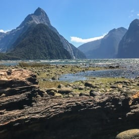 Mitre Peak at Milford Sound, Fiordland National Park Southland New Zealand