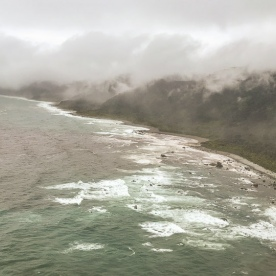 Musket bay view from the helicopter, Fiordland New Zealand