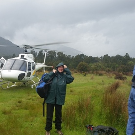 Helicopter into Fiordland National Park