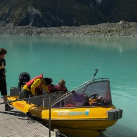 Boat Tour on Tasman Lake, Canterbury New Zealand