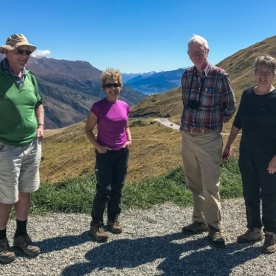 Group at Crown Range Summit, Otago New Zealand