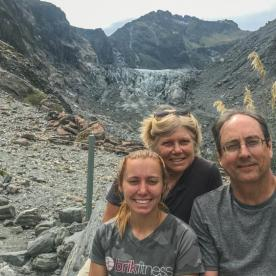 Family at Fox Glacier, West Coast New Zealand