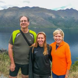 Family at Lake Wakatipu, Otago New Zealand