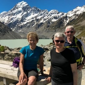 Group at Aoraki Mount Cook, Canterbury New Zealand