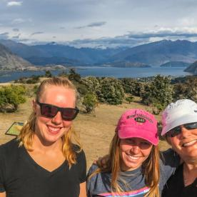 Ladies above Lake Wakatipu, Otago New Zealand