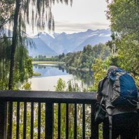 Watching Lake Matheson, West Coast New Zealand