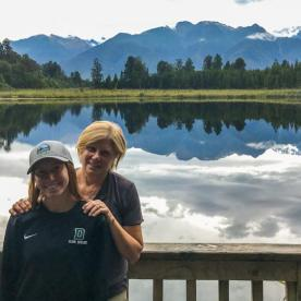 Mum and Daughter at Lake Matheson, West Coast New Zealand
