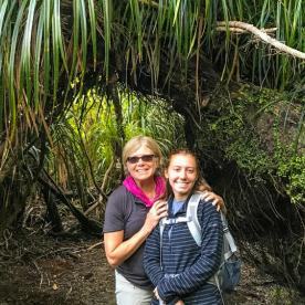 Mum and Daughter at Paparoa National Park, West Coast New Zealand