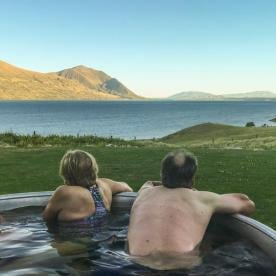 Outdoor Bath at Mueller Hut, Canterbury New Zealand