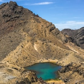 Blue lake at Tongariro National park,  Manawatu-Wanganui New Zealand