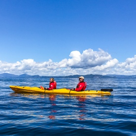 Kayaking on lake Taupo, Waikato New Zealand