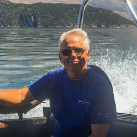 Guest on the boat at Lake Wanaka, Otago New Zealand