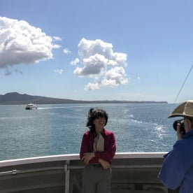Picture on the boat at Auckland, New Zealand